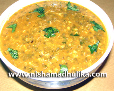 Sprouted Moong Dal Curry Recipe