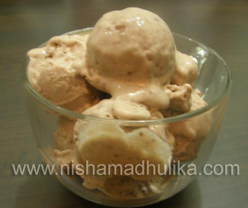 Roasted banana chocolate ice cream nishamadhulika everyone likes ice creams ccuart Images