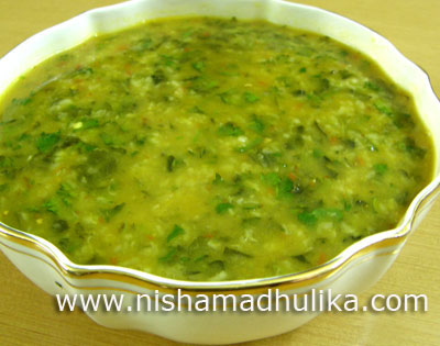 Chaulai Sag with Moong Dal
