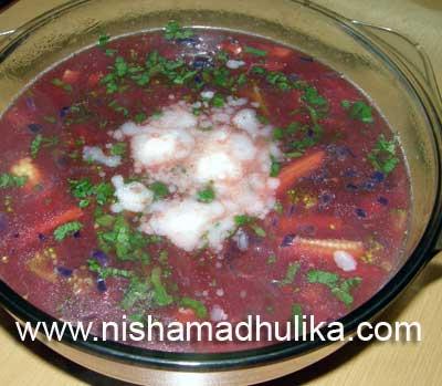 Gajar Chukandar Soup
