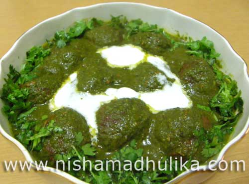 Recipe Malai Kofta with Spinach Gravy