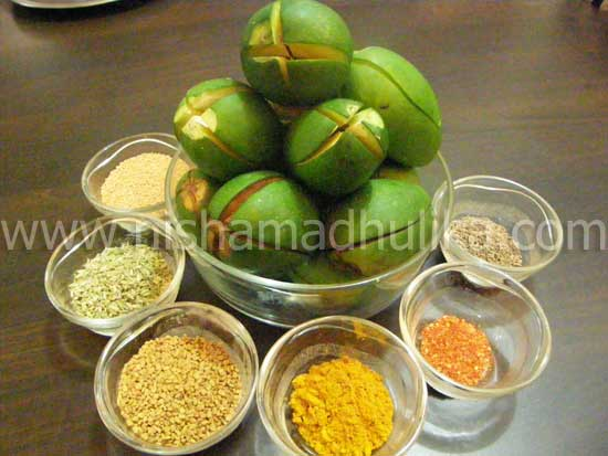 Stuffed Mango Pickle Ingredients