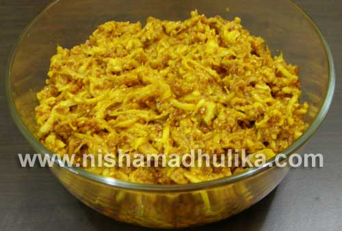 Grated Mango Pickle Recipe