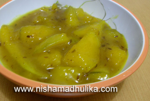 Raw Mango Launji recipe