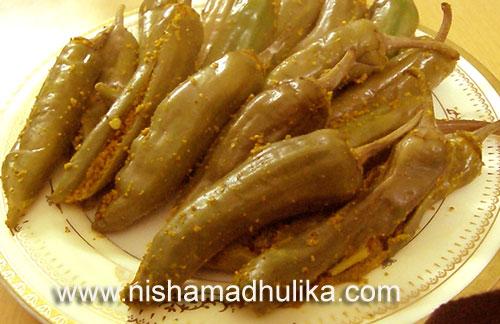 Green Chilli Buttermilk Pickle Recipe