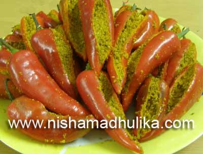 Bharwa Lal Mirchi ka Achar