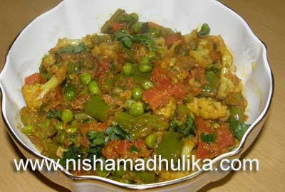 Mixed vegetable fry recipe nishamadhulika mixed vegetable fry forumfinder Images