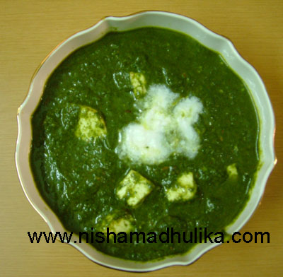 Palak paneer recipe spinach paneer recipe nishamadhulika palak paneer recipe forumfinder Image collections