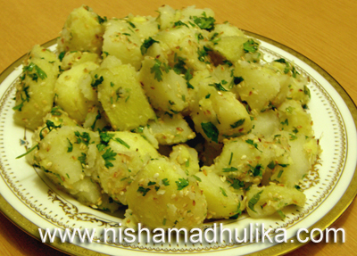 Potato sesame salad recipe nishamadhulika prepare potato sesame salad in the evening before dinner and serve it to your family members i am sure they will definitely like the recipe forumfinder Choice Image