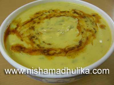 Sev Kadhi Recipe