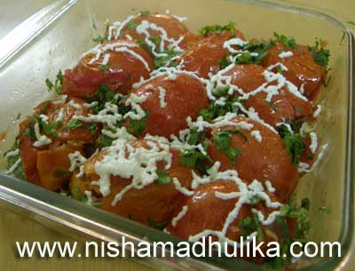 Stuffed Tomato Recipe, Bharwan Tamatar