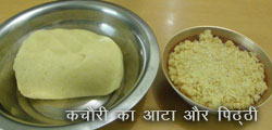 kachori atta and pitthi