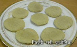 sweet kachori - pitthi filled