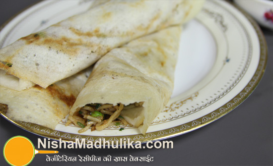 Chinese dosa recipe noodle stuffed dosa recipe nishamadhulika south forumfinder Images