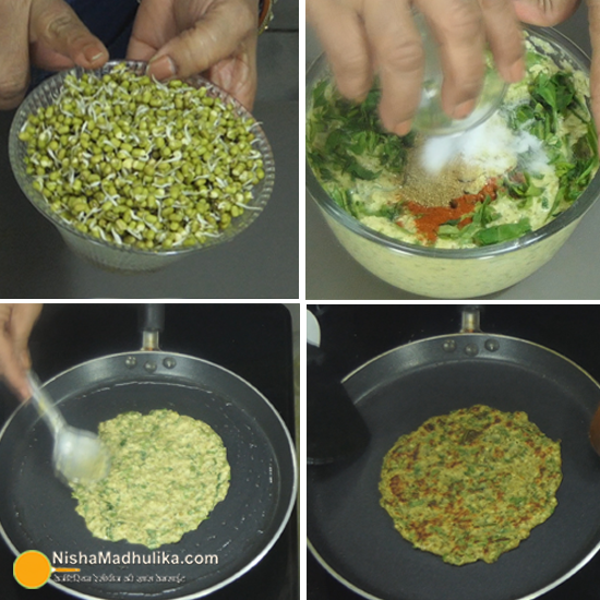 Sprouts cheela recipes