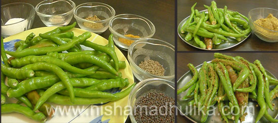 Green Chilli Pickle Recipe in Hindi
