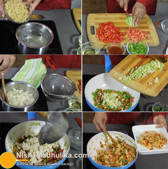 How To Make Indian Style Macaroni Pasta Recipe