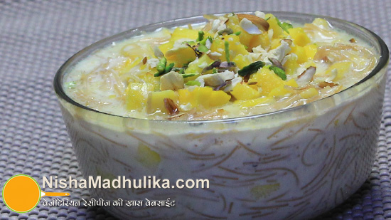Delicious indian recipes in english language nishamadhulika mango vermicelli kheer recipes forumfinder Image collections