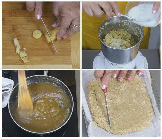 adrak barfi recipe