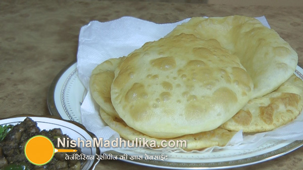 how to make bhatura in hindi
