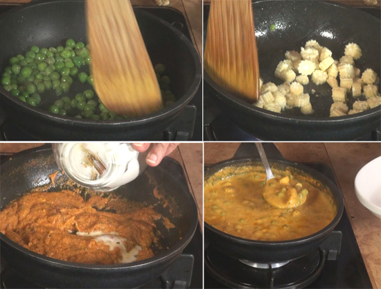Baby Corn Green Peas Curry Recipe