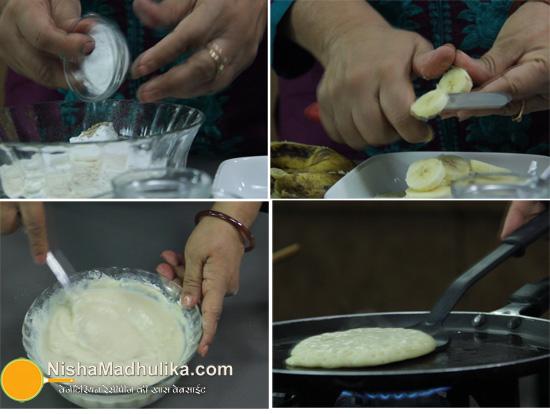 Pancake recipe with eggs in hindi