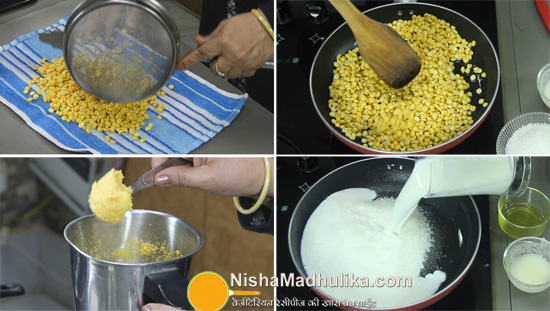 chana dal burfi recipe