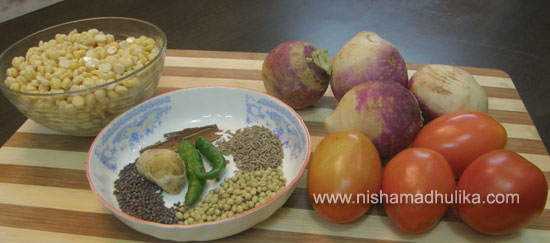 How to cook Turnip Chana Dal Curry