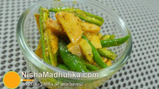 Ginger Green Chilli Pickle Adrak Hari Mirch Ka Achaar