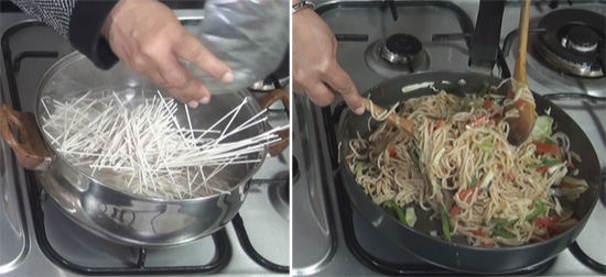 how to make indian chow mein