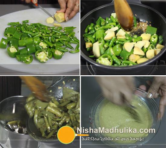 how to prepare green chilli sauce