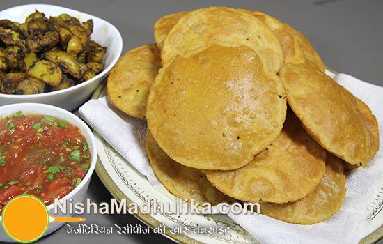 Aaloo Bhujia With Kachori Recipe - Nishamadhulika.com