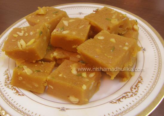 Milk Cake Recipe In Hindi By Nisha Madhulika