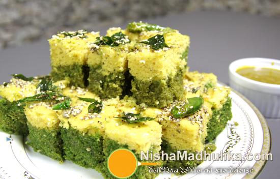 Palak dhokla recipe spinach dhokla recipe nishamadhulika spinach dhokla forumfinder Choice Image