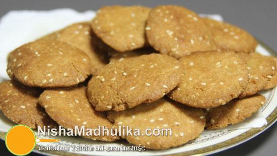 Baked sweet mathri recipes