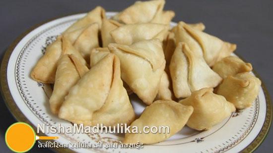 sweet mini samosa recipes meethe dry samosa nishamadhulika com
