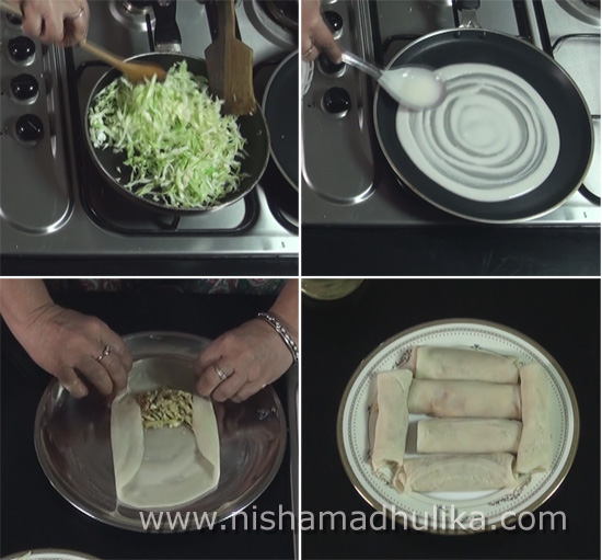 Vegetable spring rolls recipe nishamadhulika prepare forumfinder Images