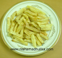 फ्रेंच फ्राई - French Fries Recipe, Home Made French Fries Recipe